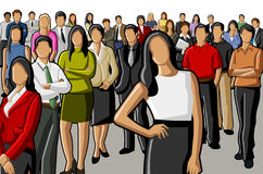 Business people. Group of Business people standing Royalty Free Stock Image