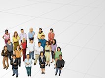 Business people. Group of business and office people Stock Photo