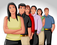 Business people. Group of business and office people Stock Photography