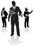 Business people. Set of business people silhouettes Royalty Free Stock Photography