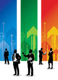 Business people. A business people arrow background Royalty Free Stock Images