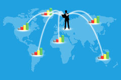 Business people. Market expansion throughout the world Stock Photography