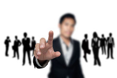 Business people. Business people who want to join the team Stock Images