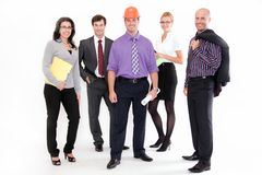 Business people. Smiling business people standing togehther Royalty Free Stock Photo