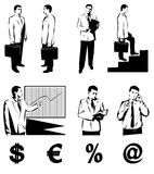 Business people. JPG + Vector Illustration Stock Photos