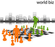 Business people. Play chess... people stock illustration