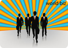 Business people. Illustration of business people... world biz stock illustration