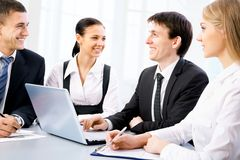Business people. Image of business people discussing plan at meeting Stock Photos