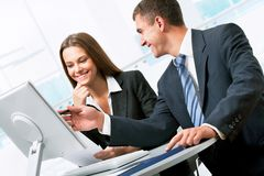 Business people. Image of business people discussing plan at meeting Stock Photography