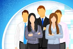 Business People. Illustration of business people on business background Stock Photos