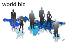 Business people. Illustration of business people... world map vector illustration