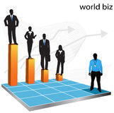 Business people. Illustration of business people...world biz vector illustration