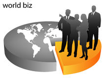 Business people. Illustration if business people... world biz royalty free illustration