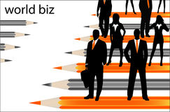 Business people. Illustration of business people... world biz royalty free illustration
