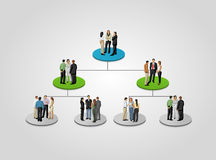 Business people. Template for advertising brochure with business people on hierarchy tree Stock Photography
