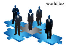 Business people. Illustration of business people on puzzle Royalty Free Stock Photos