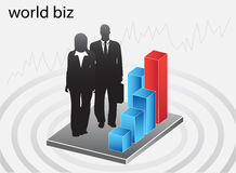 Business people. Illustration of business people...world biz stock illustration