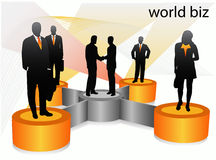 Business people. Illustration of business people .... world biz vector illustration