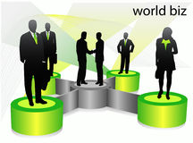 Business people. Illustration of business people .... world biz stock illustration