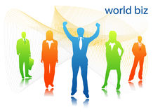 Business people. Illustration of business people...world biz royalty free illustration