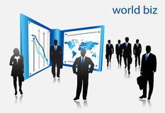 Business people. Illustration of business people. world biz royalty free illustration