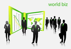 Business people. Illustration of business people....world biz stock illustration