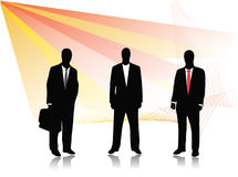 Business people. Illustration of business people, silhouette Stock Photography