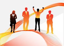 Business people. Illustration of business people with abstract shapes vector illustration