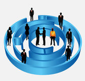 Business people. Illustration of business people in maze stock illustration