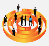 Business people. Illustration of business people in maze Stock Photo