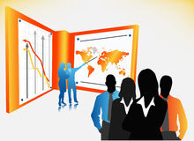 Business people. Illustration of business people.. world biz Stock Image