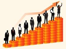 Business people. Illustration of business people, orange Stock Photos