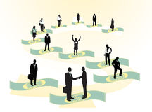 Business people. Illustration of business people and dollars Stock Photo