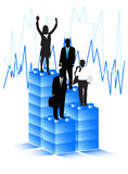 Business people. Illustration of business people and graph Royalty Free Stock Images