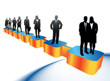 Business people. Illustration of business people....biz royalty free illustration