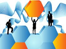 Business people. Illustration of business people and abstract Royalty Free Stock Images