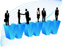Business people. Illustration of business people and internet Stock Photography