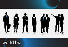 Business people. Illustration of business people... world biz vector illustration