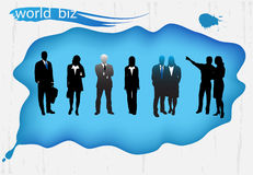 Business people. Illustration of business people..... world biz vector illustration