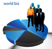 Business people. Illustration of business people on graph vector illustration