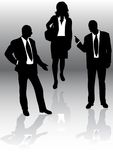Business people. Black and white silhouette of business people royalty free illustration