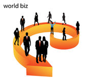 Business people. Illustration of business people.... world biz vector illustration