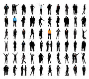 Business people. Illustration of silhouette of business people stock illustration
