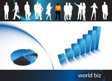 Business people. Illustration of business people.... world biz royalty free illustration
