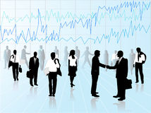 Business people. Illustration of business people, blue Royalty Free Stock Photography