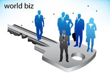 Business people. Illustration of business people on key Stock Image