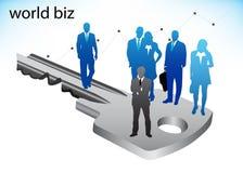 Business people. Illustration of business people on key vector illustration