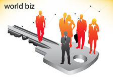 Business people. Illustration of business people on key Royalty Free Stock Image