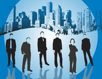 Business people. Team -  illustration Stock Photography