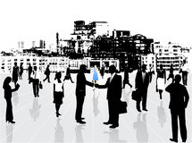 Business people. Illustration of business people and city Stock Photo